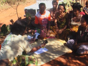 distributing phones to listening groups to participate in phone in VVD programmes