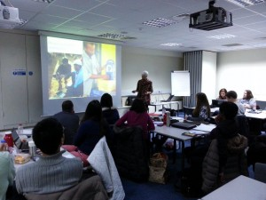 ALT Director presents the Trust's communications work to students at Surrey University
